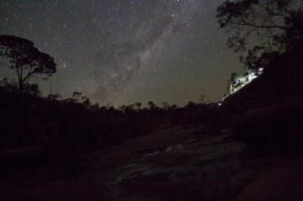 underneath a starry sky
